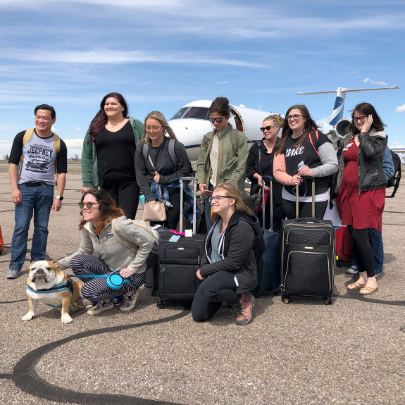 Nurses from Banner Health's Phoenix area hospitals arrive in northern Colorado.
