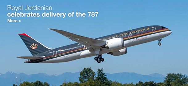 Royal Jordanian celebrates delivery of the 787