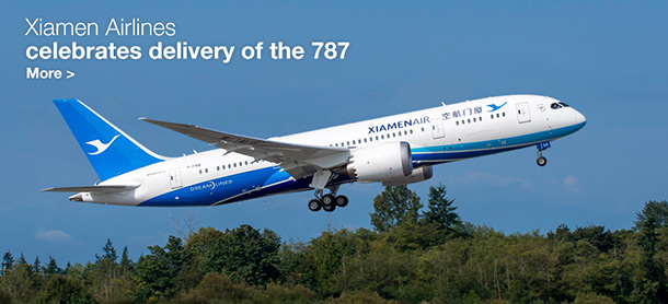 Xiamen Airlines celebrates delivery of the 787