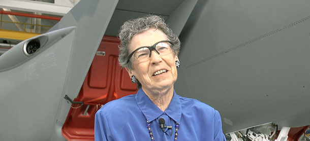 A pioneer for women in aerospace retires from the jet she loves