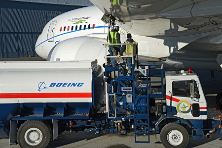 First test flight with 'green diesel' as aviation biofuel