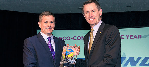 Boeing named Eco-Company of the Year by Air Transport World
