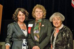 CJI Vice Chair Sheila Gutterman, Mary G. Wilson of LWVUS, and CJI Vice Chair Ellie Greenburg