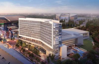 Rendering of planned $550 million convention center and hotel addition