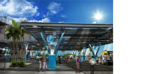 Artist Rendering of new Daytona Speedway solar project