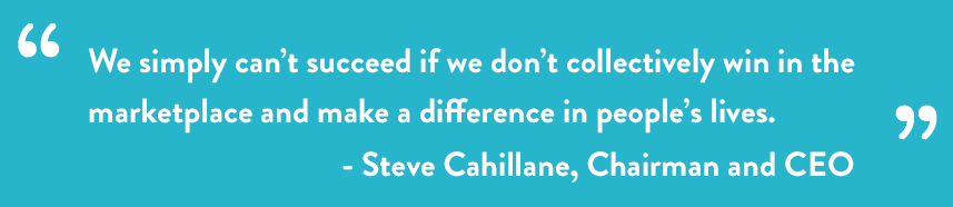 Pull Quote: We simply can't succeed if we don't collectively win in the marketplace and make a difference in people's lives. - Steve Cahillane, Chairman and CEO