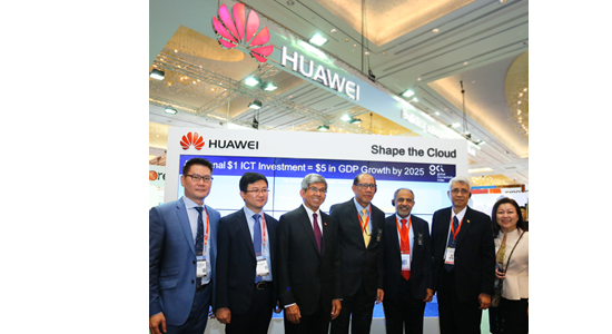 Lim Chee Siong - CMSO of Huawei Southern Pacific, Lei Hui – CEO of Huawei Singapore, Dr. Yaacob Ibrahim – Minister of Communications and Information, at the Huawei eco-Connect with attending Ministers from Brunei and Myanmar