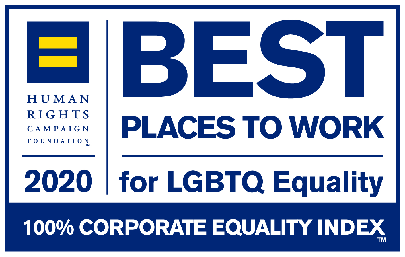 2020 Human Rights Campaign Foundation Best Places to Work for LGBTQ Equality Logo