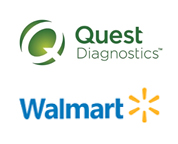 Quest Diagnostics Incorporated logo and Walmart logo