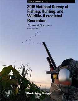 2016 National Fishing, Hunting, and Wildlife-Associated Recreation national survey