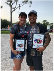Bushnell team shooters Jessie Harrison and KC Eusebio