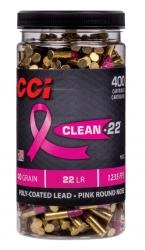 CCI jar of Clean-22 Pink ultra-clean 22 LR rounds