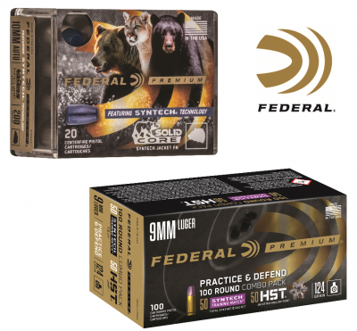 Two boxes of Federal Syntech ammunition