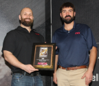 CCI engineers receiving a 2020 Gold Award for Rimfire Ammunition.