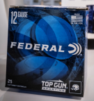 Box of 12 gauge Federal Top Gun ammunition