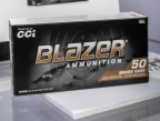 Box of CCI Blazer Ammunition.