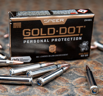 Box of Speer Gold Dot Personal Protection ammunition