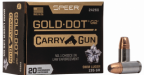 Box of Gold Dot Carry Gun Ammunition