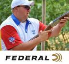 Team Federal shooter Gregg Wolf and Federal logo