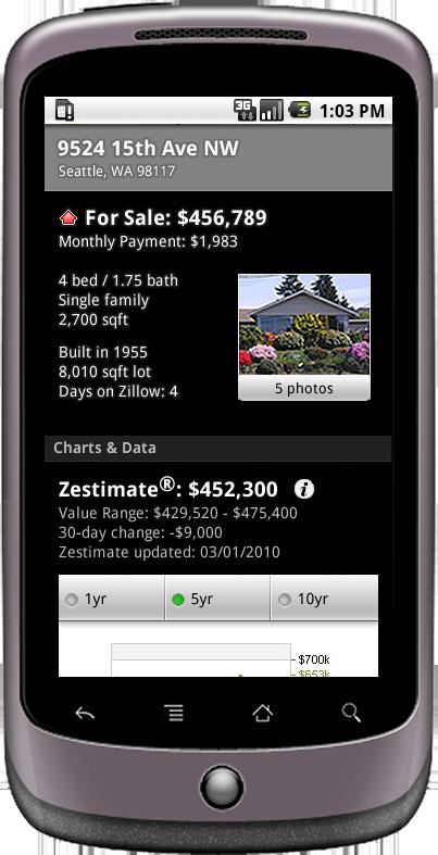 Zillow MediaRoom - Zillow Android App