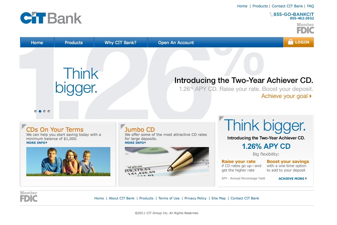 Cit Bank Announces New Two Year Achiever Cd With 126 Apy Jan 10