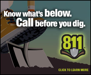 Calling 811 before an excavation project is like wearing your seat