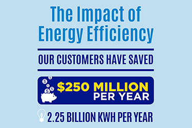 Customers Saving $250 Million Per Year By Reducing Energy Use