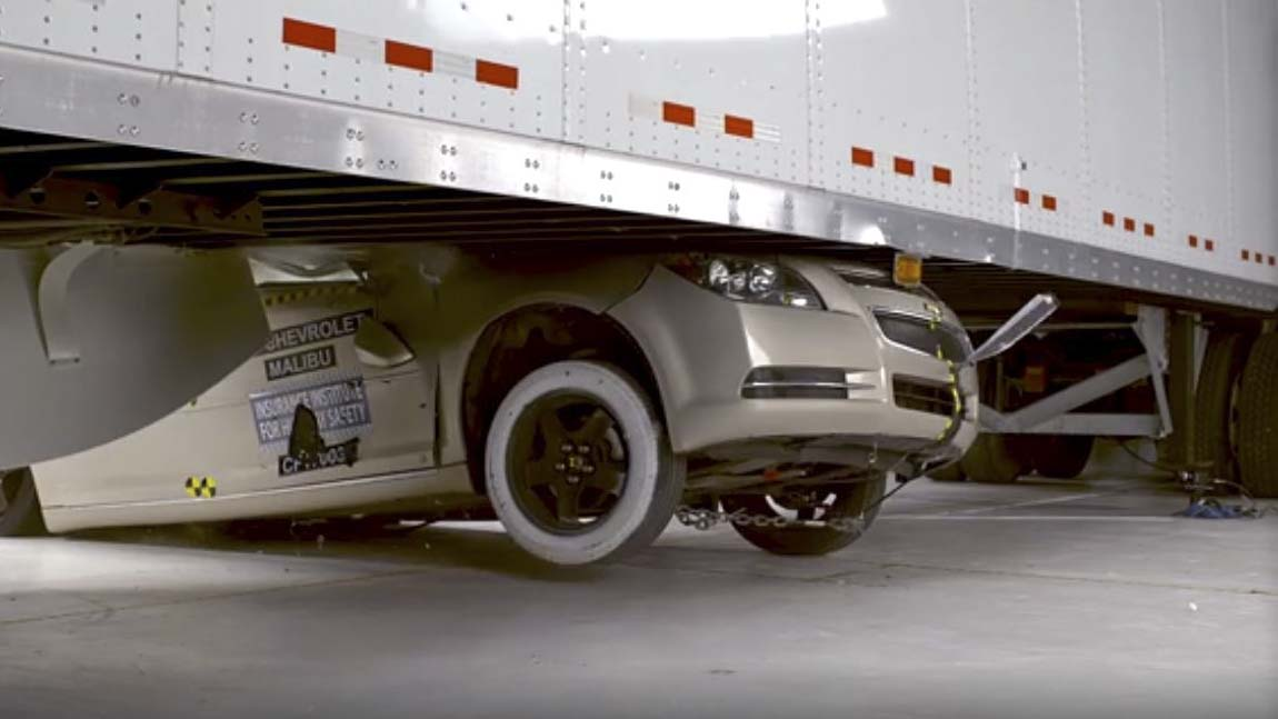 Side underride crash tests