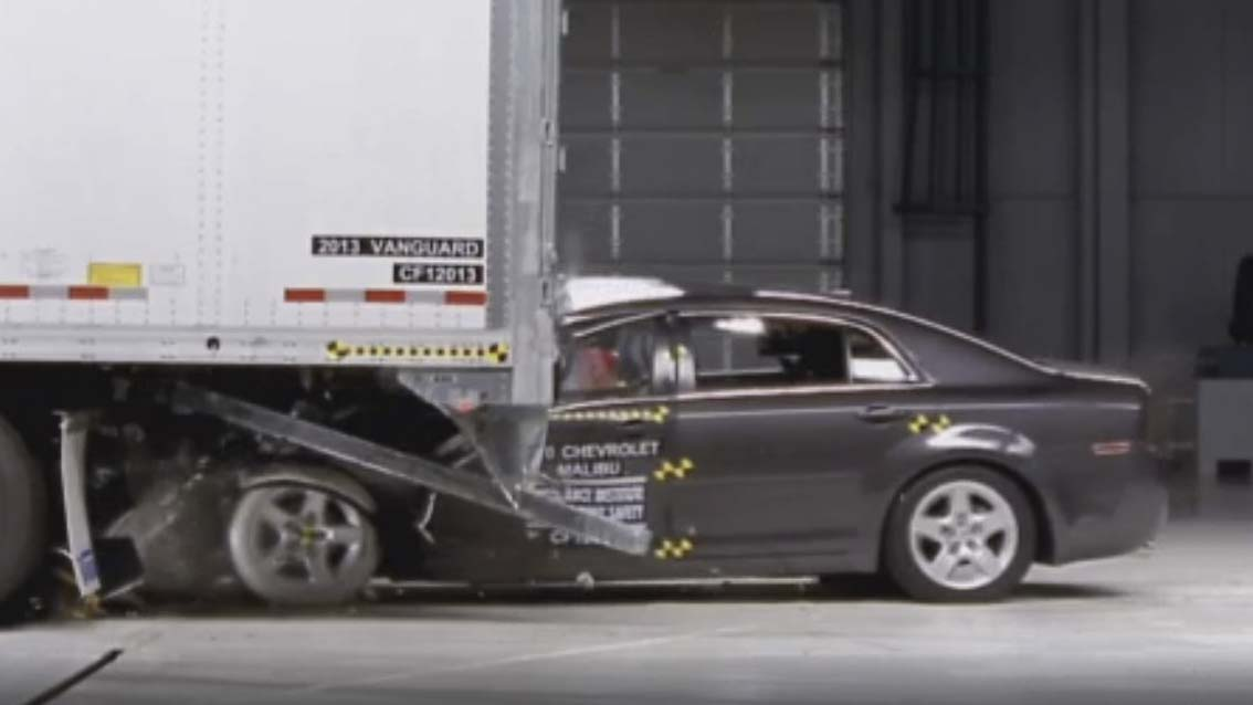 Trailer underride crash tests