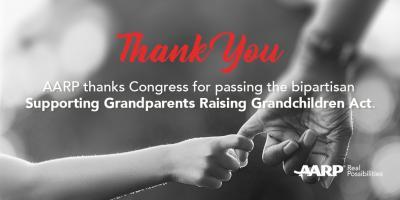 AARP Praises Passage of Grandparents Raising Grandchildren Act