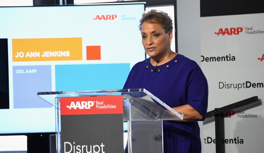 CEO Jo Ann Jenkins announces AARP's 60 million dollar investment in the Dementia Discovery Fund.
