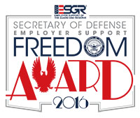 Alaska Airlines was presented with the 2016 Secretary of Defense Employer Support Freedom Award. Click enter to read more.