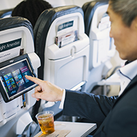in-flight entertainment tablets