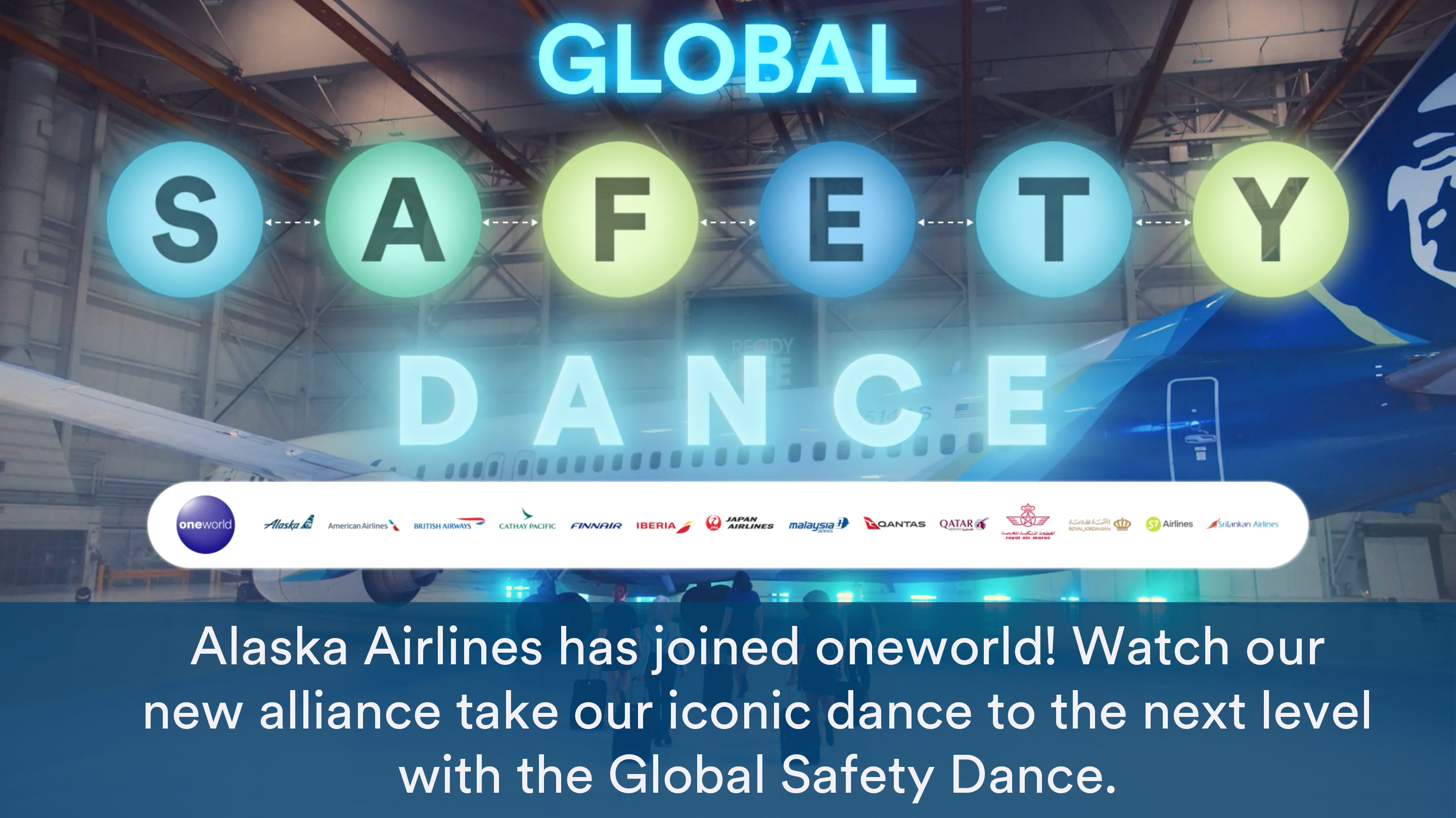Alaska Airlines has joined oneworld! Watch our new alliance family members take our iconic dance to the next level with the Global Safety Dance.
