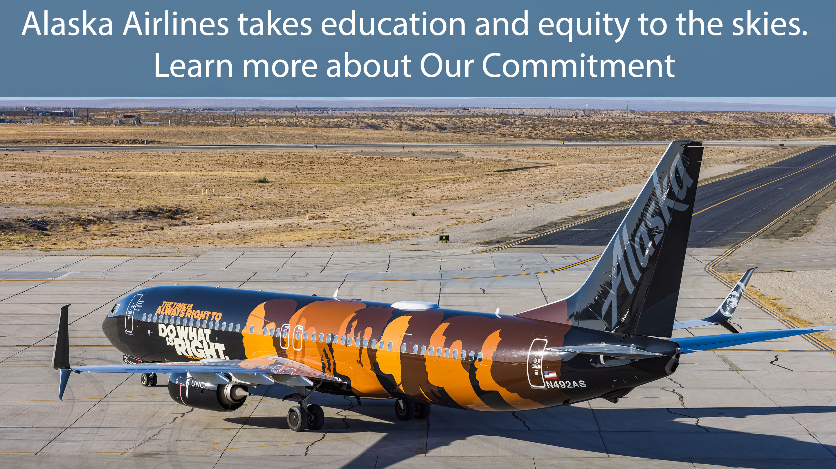 Alaska Airlines takes education and equity to the skies. Learn more about Our Commitment