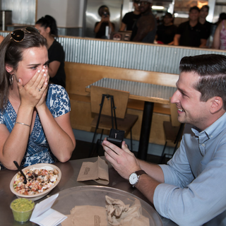Sacramento high school sweethearts get engaged at Chipotle