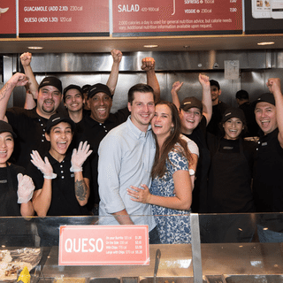 This Couple Got Engaged At Chipotle — Then Celebrated With A 'Burrito' Cake