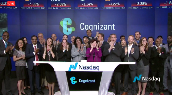 Cognizant Celebrates 20 Years as a Nasdaq-Listed Company