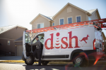 Dish Van and Technician on Location