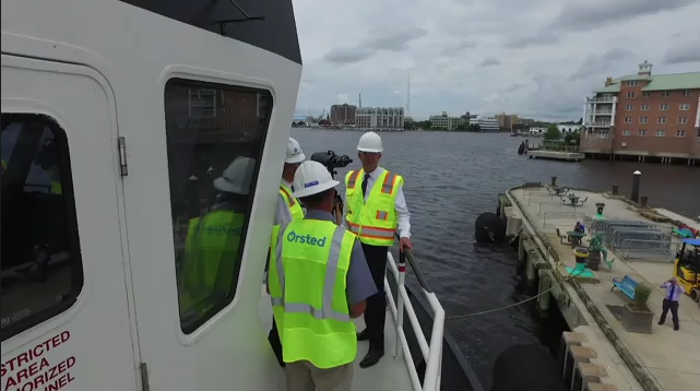Governor and Tom Farrell at Coastal Virginia Offshore Wind August 8, 2018