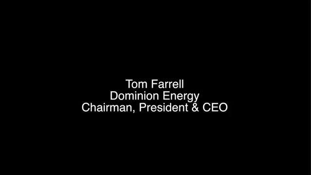 Dominion Energy Chairman Thomas F. Farrell II Soundbites from Coastal Virginia Offshore Wind Announcement