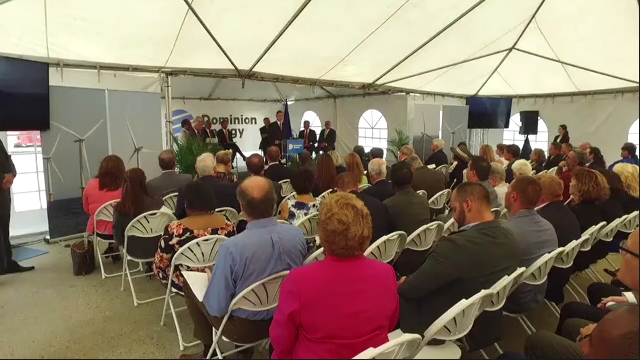 Dominion Energy Chairman Thomas F. Farrell II B-Roll footage from Coastal Virginia Offshore Wind Announcement