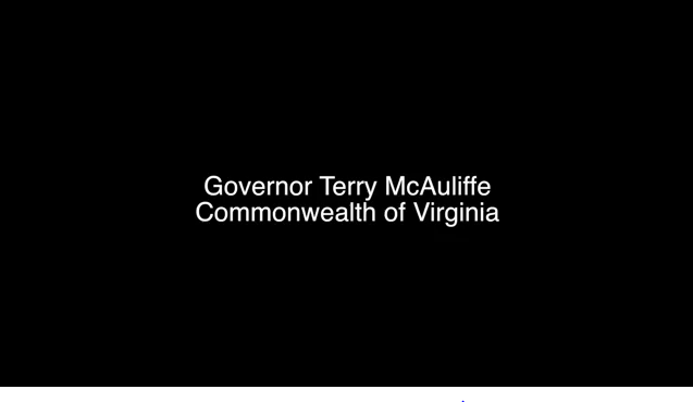 Gov. Terry McAuliffe B-Roll footage from Coastal Virginia Offshore Wind Announcement