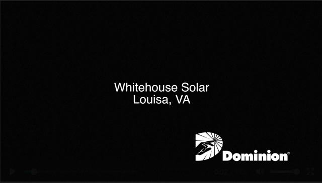 Video Footage of Solar Facilities in Powhatan, Louisa and Isle of Wight counties