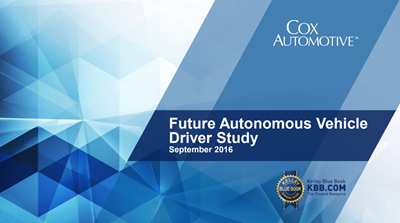 2016 Kelley Blue Book Future Autonomous Vehicle Driver Study