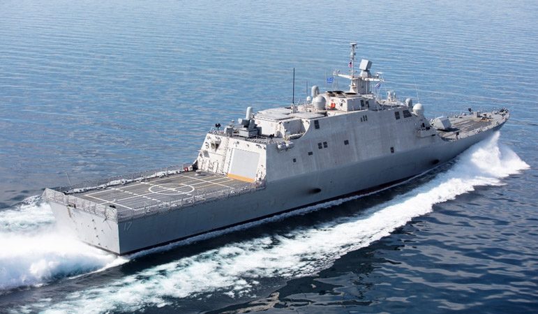 The future USS Indianapolis completed Acceptance Trials in Lake Michigan in June.