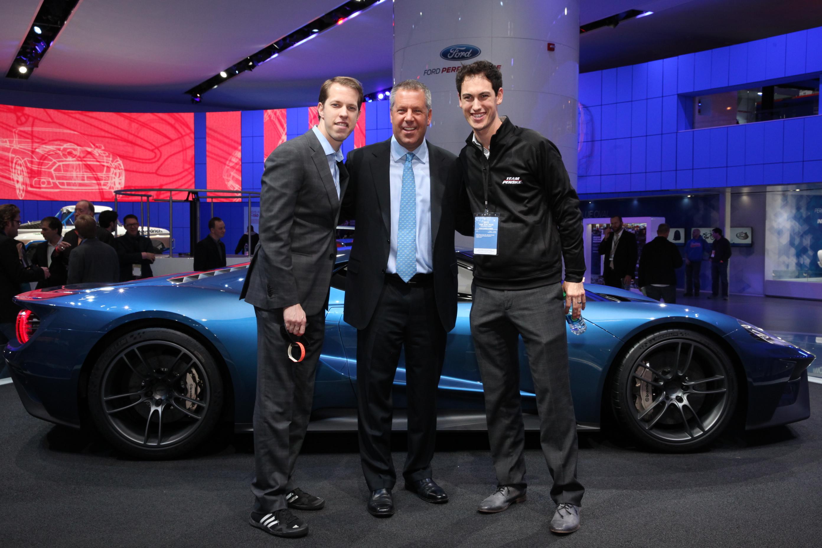 Brad Keselowski Joe Hinriches And Joey Logano With New Ford Gt  Kb