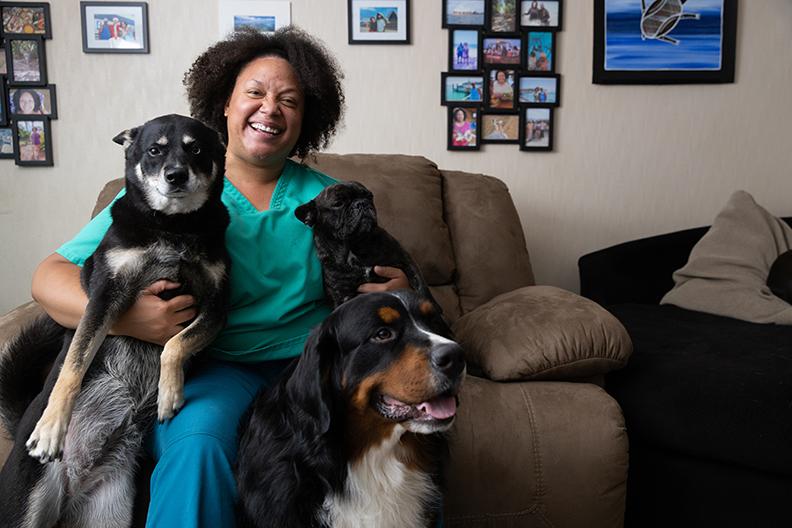 Bridgett Jeffries and Dogs
