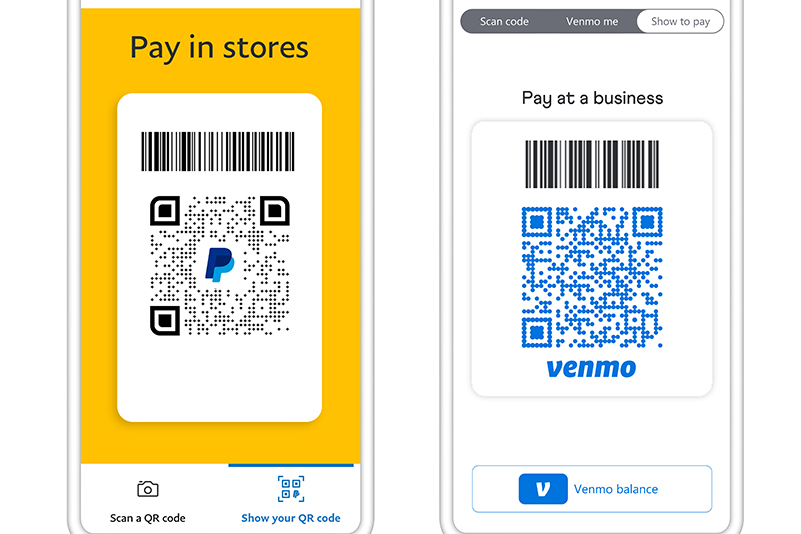 PayPal and Venmo QR Codes