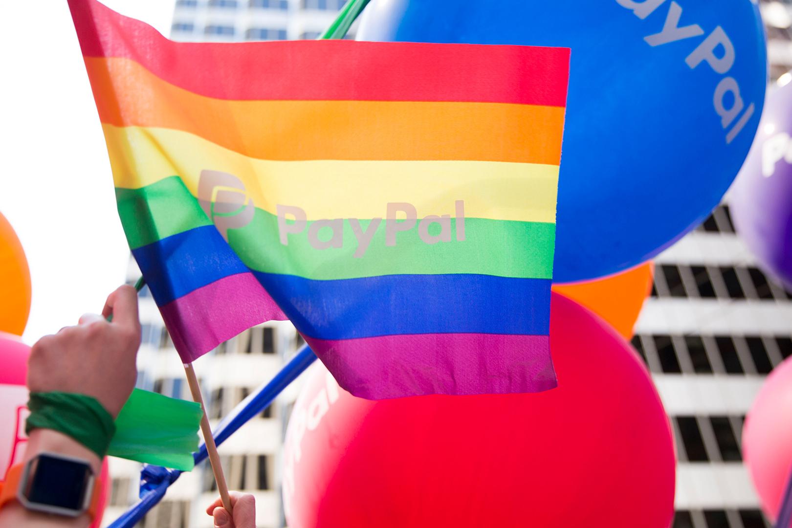 PayPal Pride flag